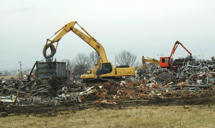 demolition of a manufacturing facility