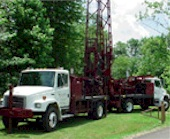 Geotechnical drilling rig